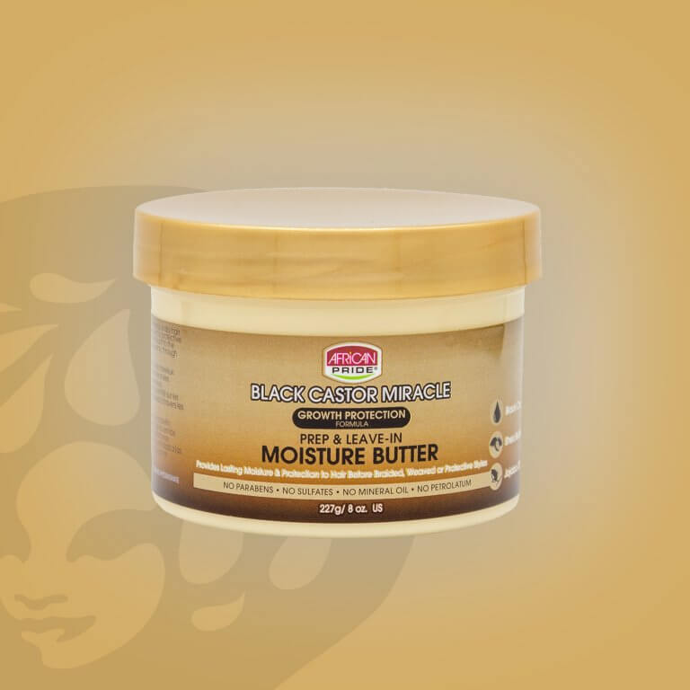 African Pride Black Castor Miracle Leave-In Moisture Butter