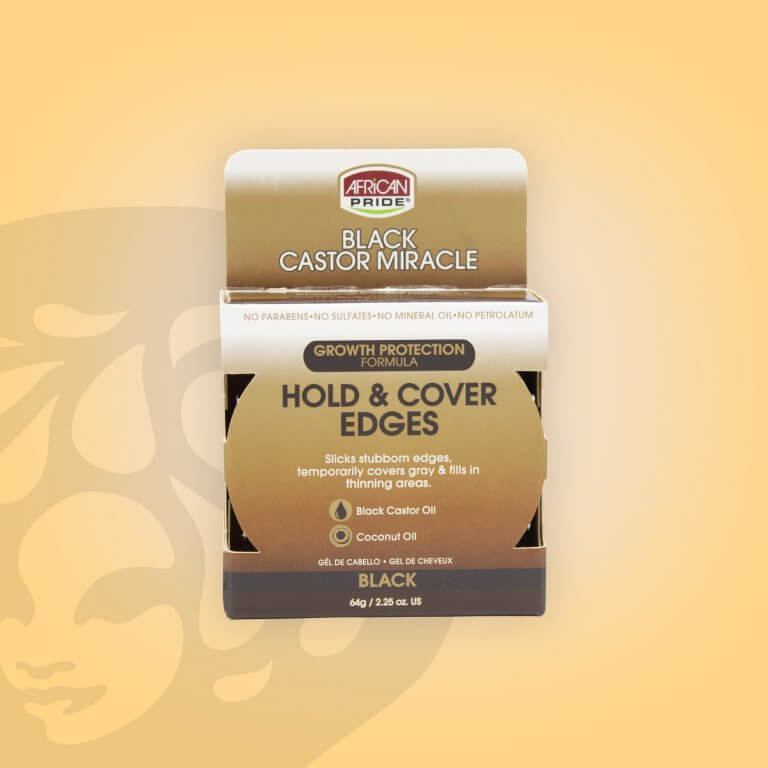African Pride Black Castor Miracle Hold & Cover Edges Black