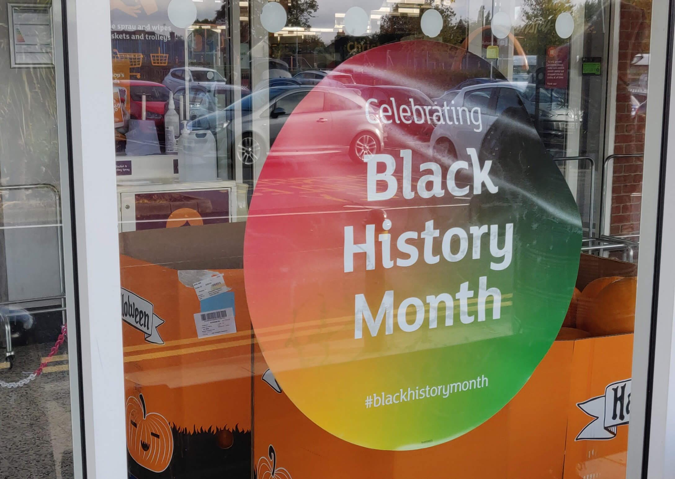 Black History Month Supermarket Sticker